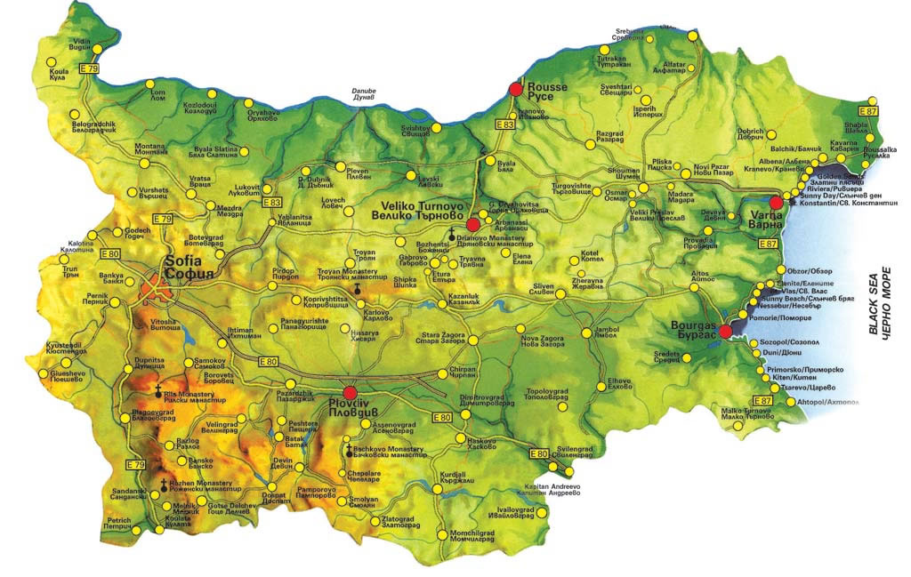 Find Properties Using The Map Of Bulgaria - Map of bulgaria
